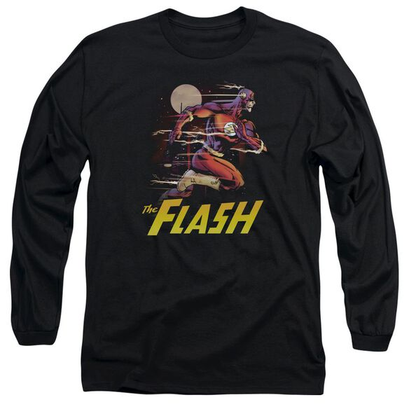 Jla City Run Long Sleeve Adult T-Shirt