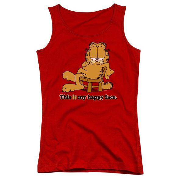 Garfield Happy Face Juniors Tank Top