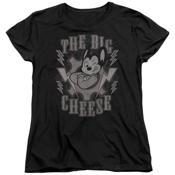 Mighty Mouse The Big Cheese Short Sleeve Womens Tee T-Shirt