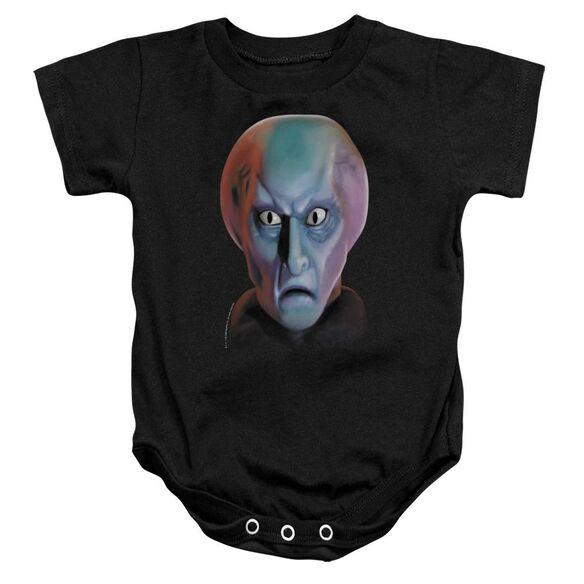Star Trek Balok Head Infant Snapsuit Black Md