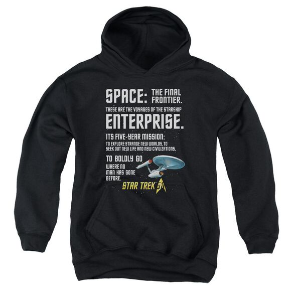 Star Trek Intro Youth Pull Over Hoodie