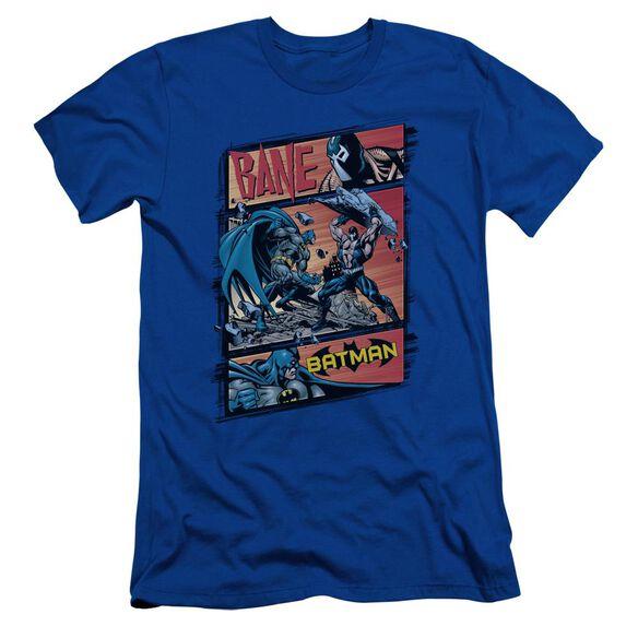 Batman Epic Battle Short Sleeve Adult Royal T-Shirt