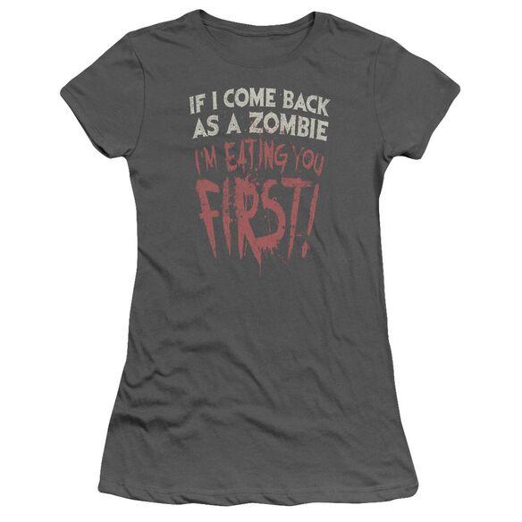 You First Short Sleeve Junior Sheer T-Shirt