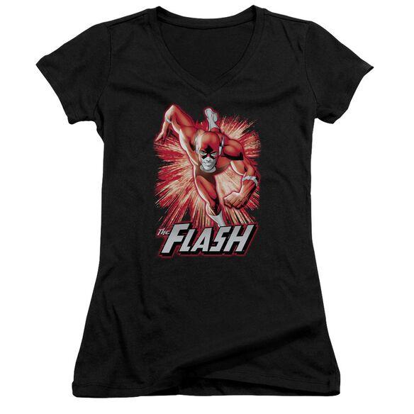 Jla Flash Red & Gray Junior V Neck T-Shirt