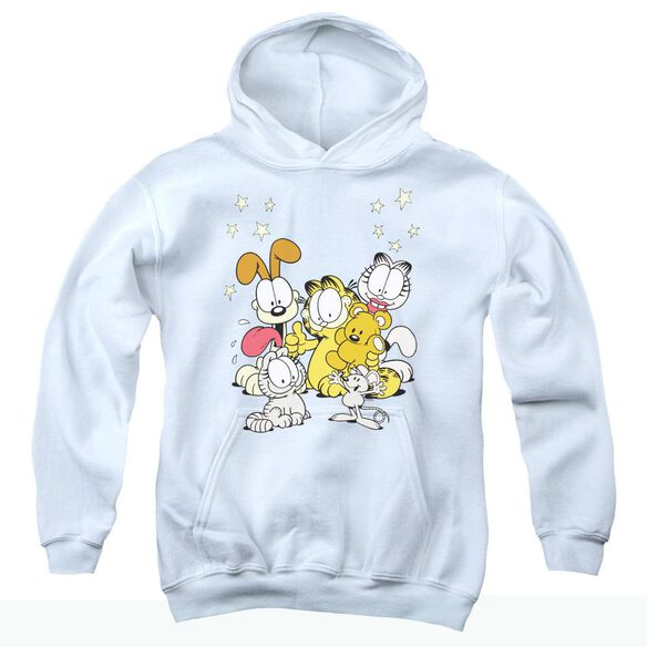 Garfield Friends Are Best Youth Pull Over Hoodie