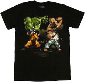 Marvel vs Capcom Tag Team T-Shirt Sheer