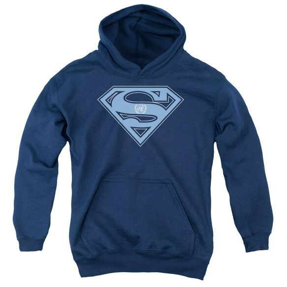 Superman U N Shield Youth Pull Over Hoodie