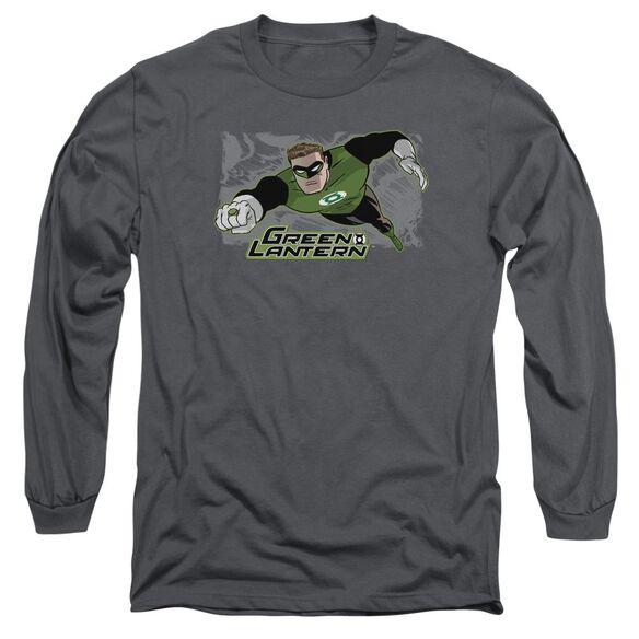 Jla Space Cop Long Sleeve Adult T-Shirt