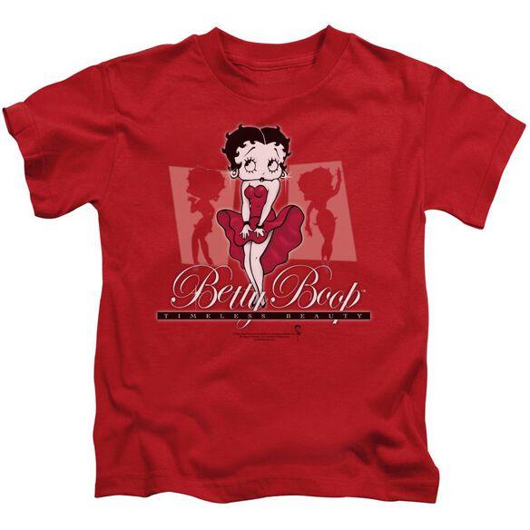 Betty Boop Timeless Beauty Short Sleeve Juvenile Red Md T-Shirt