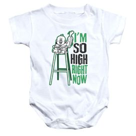 High Chair - Infant Snapsuit - White - Lg