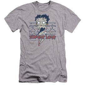 Betty Boop Zombie Pinup Premuim Canvas Adult Slim Fit Athletic