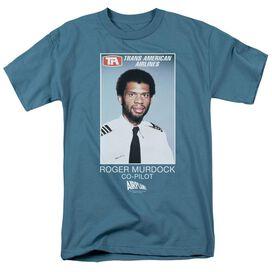 Airplane Roger Murdock Short Sleeve Adult Slate T-Shirt