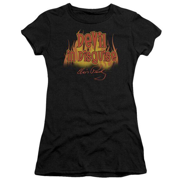 Elvis Devil In Disguise Short Sleeve Junior Sheer T-Shirt