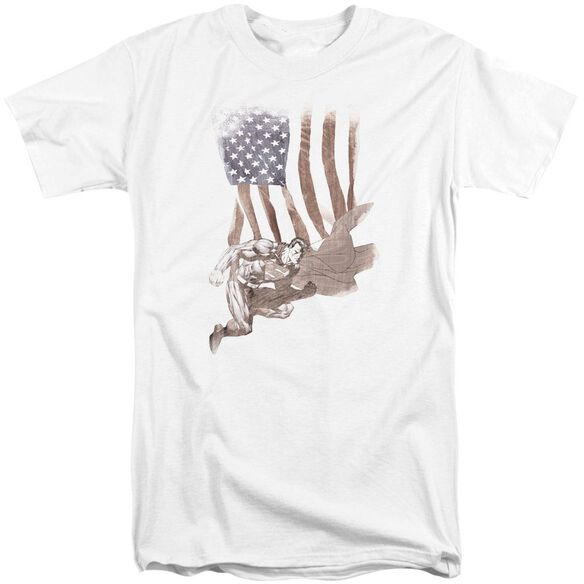 Superman Super American Short Sleeve Adult Tall T-Shirt
