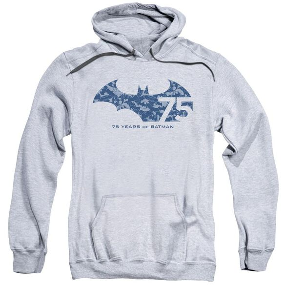 Batman 75 Year Collage Adult Pull Over Hoodie Athletic