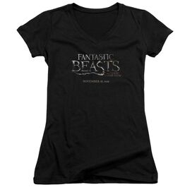 Fantastic Beasts Logo Junior V Neck T-Shirt