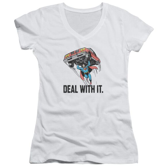 Dco Deal With It Junior V Neck T-Shirt
