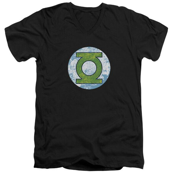 Dco Gl Neon Distress Logo Short Sleeve Adult V Neck T-Shirt