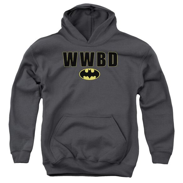 Batman Wwbd Logo Youth Pull Over Hoodie