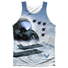 Air Force Pilot Adult 100% Poly Tank Top