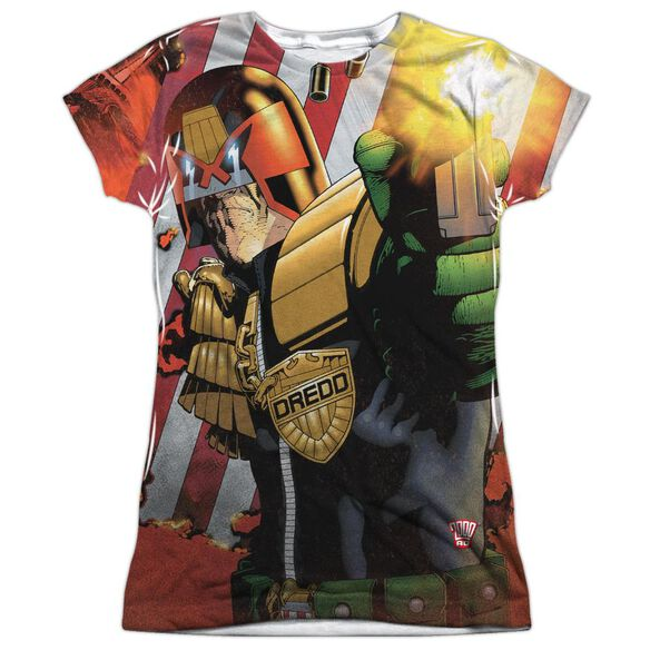 Judge Dredd Democracy Short Sleeve Junior Poly Crew T-Shirt