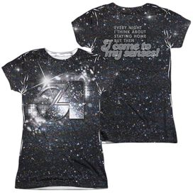 Studio 54 Senses (Front Back Print) Short Sleeve Junior Poly Crew T-Shirt