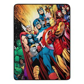 Marvel 80th Anniversary Avengers Micro Raschel Blanket