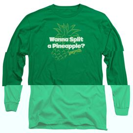 PSYCH PINEAPPLE SPLIT - L/S ADULT 18/1 - KELLY GREEN T-Shirt