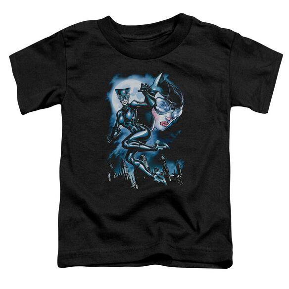 Batman Moonlight Cat Short Sleeve Toddler Tee Black Sm T-Shirt
