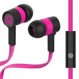 HyperGear Low Ryder Earphones with Mic [Pink/Black]