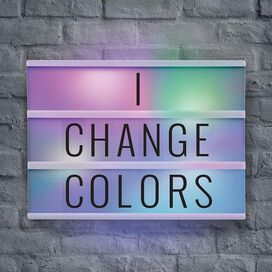 Color Changing LED Light Box