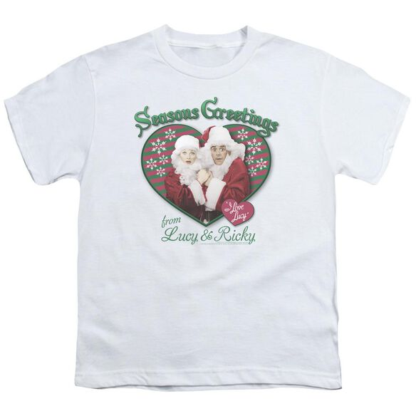 I Love Lucy Seasons Greetings Short Sleeve Youth T-Shirt