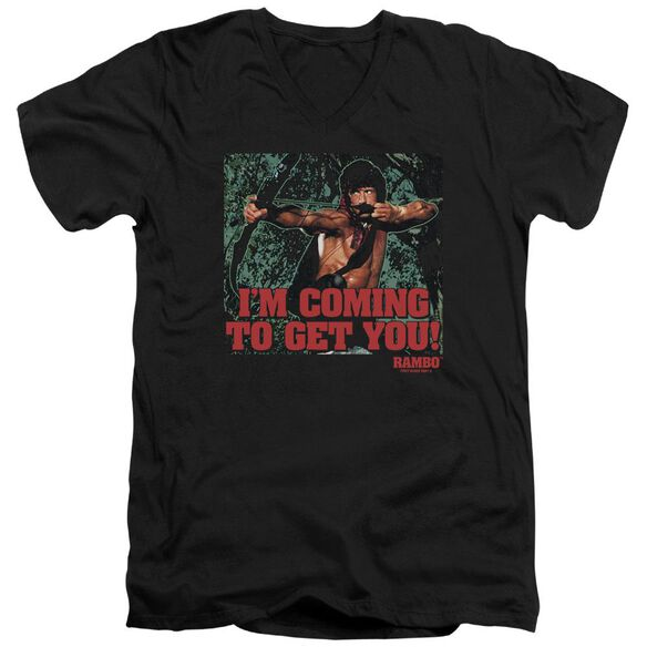 Rambo:First Blood Ii I'm Coming Short Sleeve Adult V Neck T-Shirt