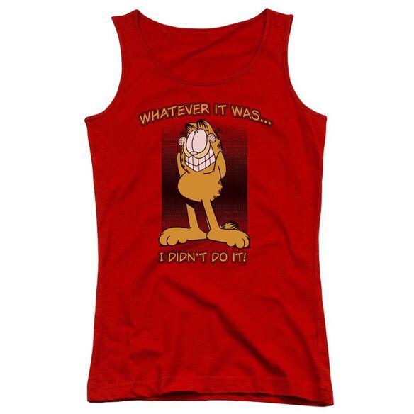 Garfield I Didn't Do It Juniors Tank Top