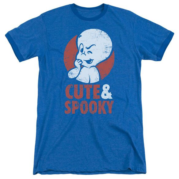 Casper Spooky Adult Heather Ringer Royal Blue