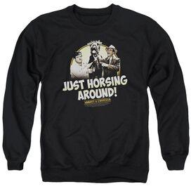Abbott & Costello Horsing Around Adult Crewneck Sweatshirt