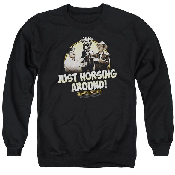 Abbott & Costello Horsing Around Adult Crewneck Sweatshirt
