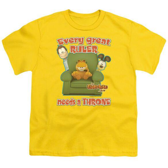 Garfield Throne Short Sleeve Youth T-Shirt
