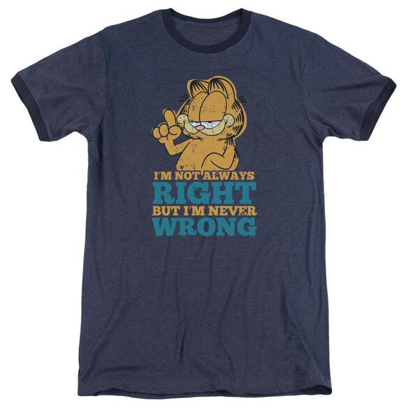 Garfield Never Wrong Adult Heather Ringer Navy
