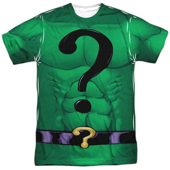 Batman Riddler Uniform Short Sleeve Adult Poly Crew T-Shirt