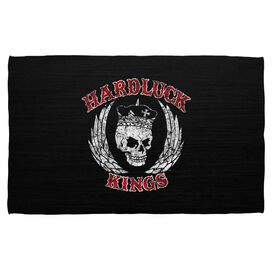 Hardluck Kings Red Letter Distressed Beach Towel