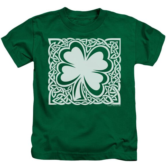 Celtic Clover Short Sleeve Juvenile Kelly Green T-Shirt