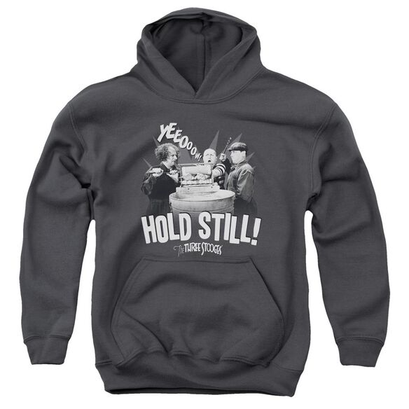 Three Stooges Hold Still Youth Pull Over Hoodie