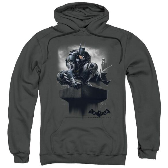 Batman Arkham Knight Perched Adult Pull Over Hoodie