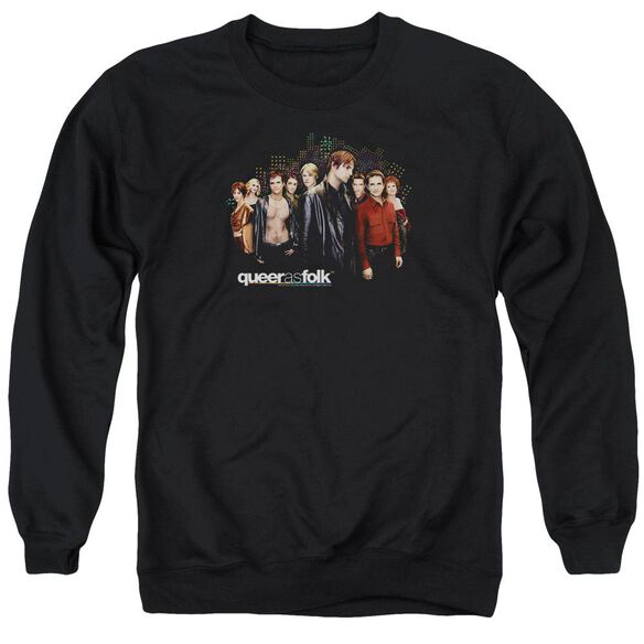 Queer As Folk Title Adult Crewneck Sweatshirt