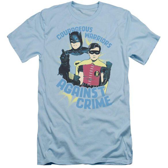 Batman Classic Tv Courageous Warriors Short Sleeve Adult Light T-Shirt