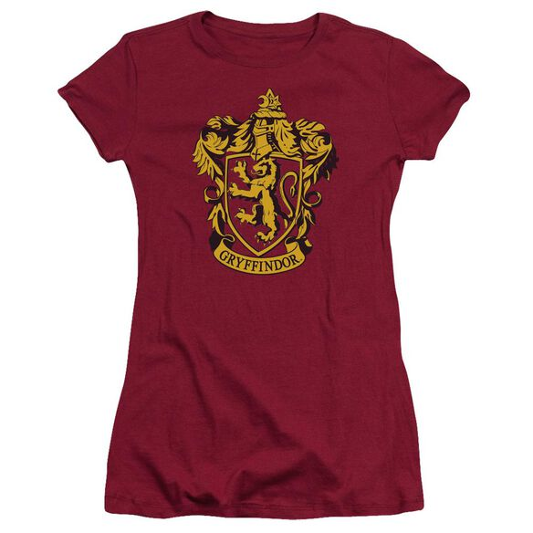 Harry Potter Gryffindor Crest Hbo Short Sleeve Junior Sheer T-Shirt