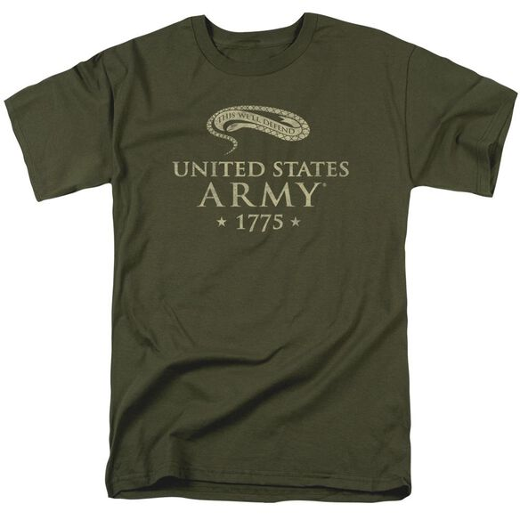 Army We'll Defend Short Sleeve Adult Military Green T-Shirt