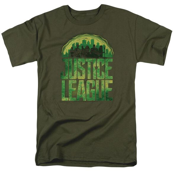 Justice League Movie Kryptonite Short Sleeve Adult Military Green T-Shirt