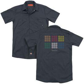 Rubik's Cube Minimal Squares(Back Print) Adult Work Shirt